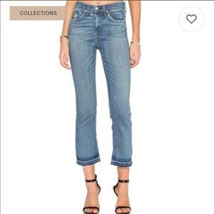 Rag and Bone High Waist Crop Jeans